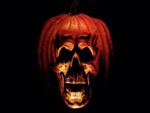 Una terrorífica calabaza de Halloween