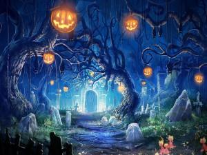Halloween en el cementerio