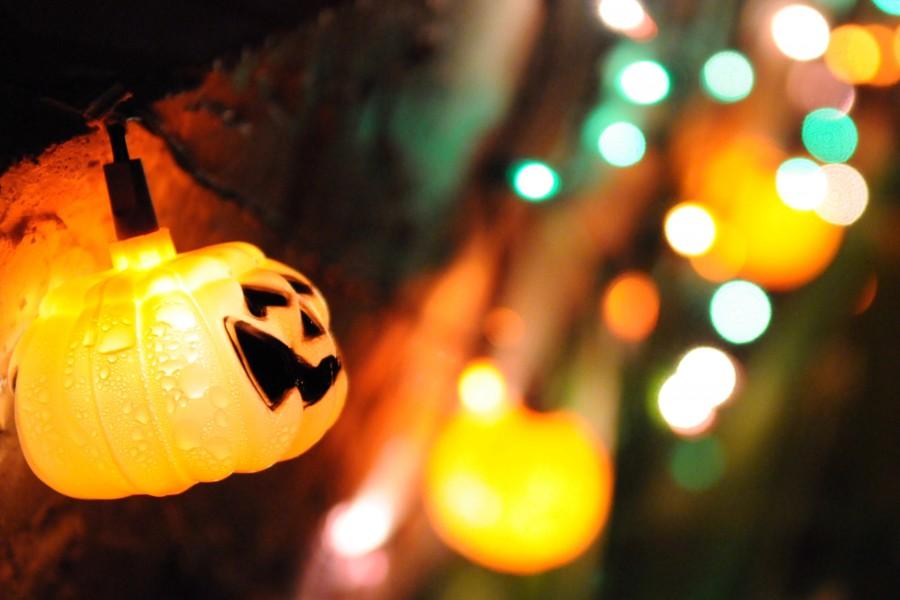 Lampara de calabaza para festejar Halloween