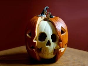 Original calabaza tallada para Halloween