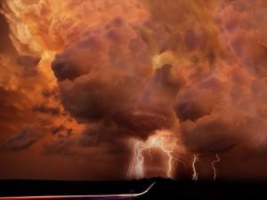 Gran tormenta en el cielo