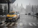 Nieve cayendo en Moscú