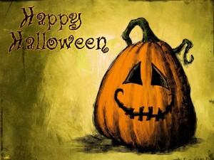"""Esta calabaza te desea """"Feliz Halloween"""""""