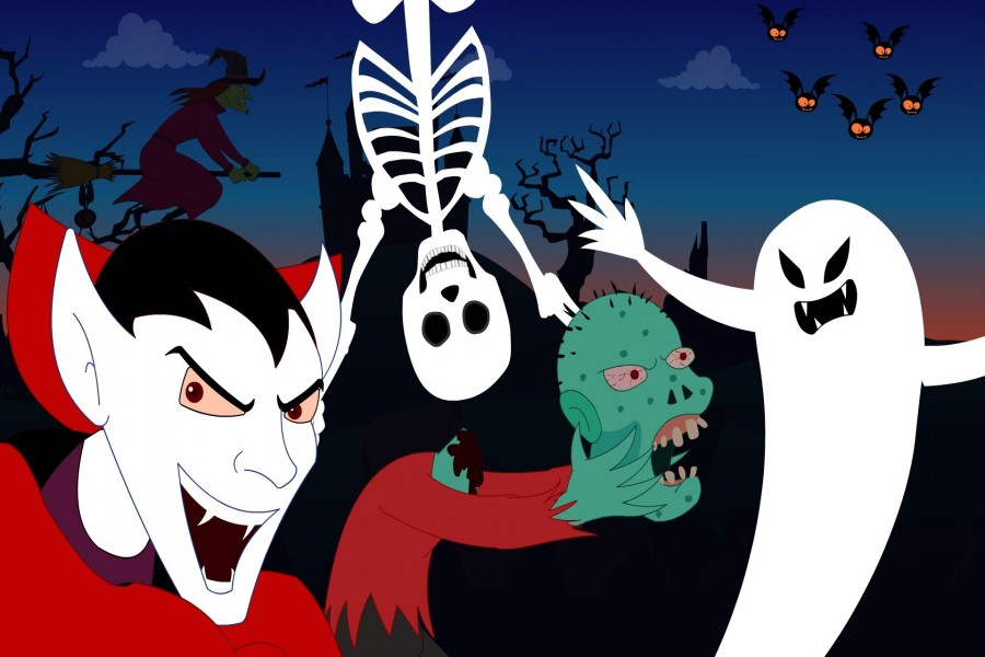 Sustos en la noche de Halloween