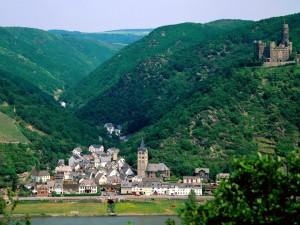 Vista del castillo Maus (St. Goarshausen, Alemania)
