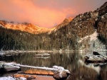 Un lago en invierno