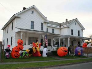 Casa decorada para festejar Halloween