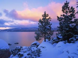 Invierno en el lago Tahoe