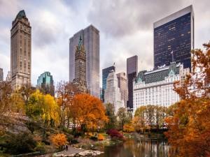 Edificios de Nueva York vistos desde Central Park (EE.UU.)