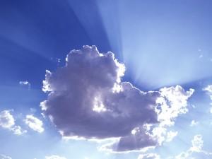 Sol escondido tras la nube