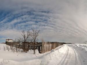 Granja en invierno