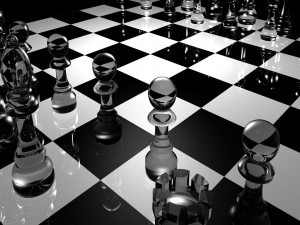 Tablero de ajedrez en 3D