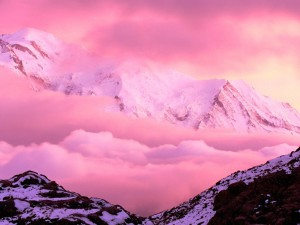 Hermoso paisaje montañoso