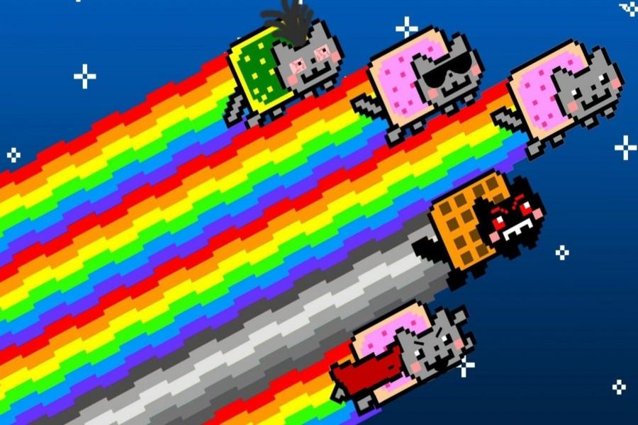 Nyan Cat volando