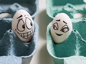 Historia de amor entre dos huevos
