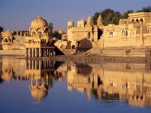 Hermosa vista de Jaisalmer (Rajastán, India)