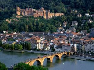 Bonita vista de Heidelberg (Alemania)