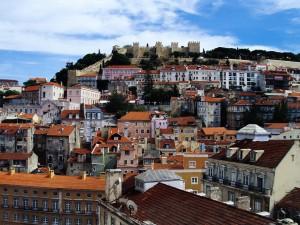 Bonita vista de Lisboa (Portugal)
