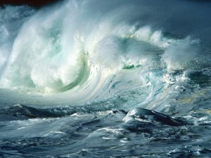 Oleaje en el océano