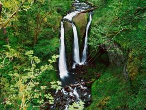 Río cayendo en cascada