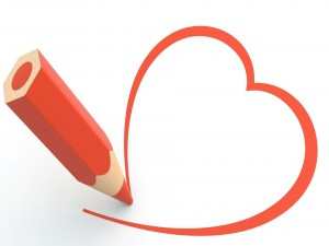 Dibujando a lápiz un corazón