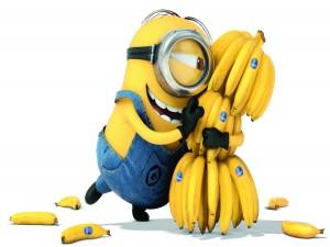 Al Minion Stuart le gustan los plátanos