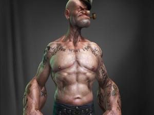 Popeye el marino y sus tatuajes