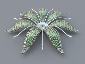 Extraña flor en 3D