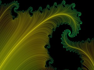 Hojas amarillas con el borde verde