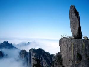 Roca en un acantilado de China
