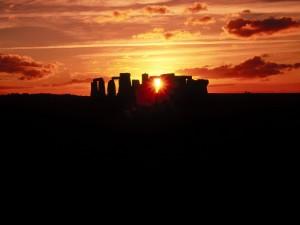 Amanece en Stonehenge (Wiltshire, Inglaterra)