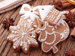 Unas bonitas galletas navideñas