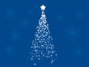 Árbol de Navidad formado de estrellas