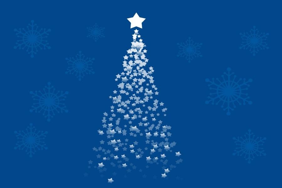 Rbol de navidad formado de estrellas 72122 - Estrella para arbol de navidad ...