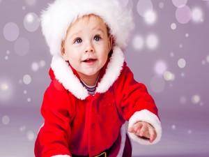 Bebé vestido de Papá Noel
