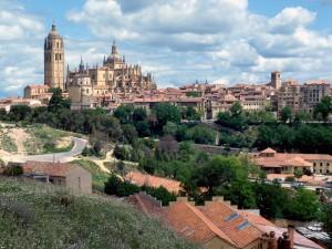 Bonita vista de Segovia (España)