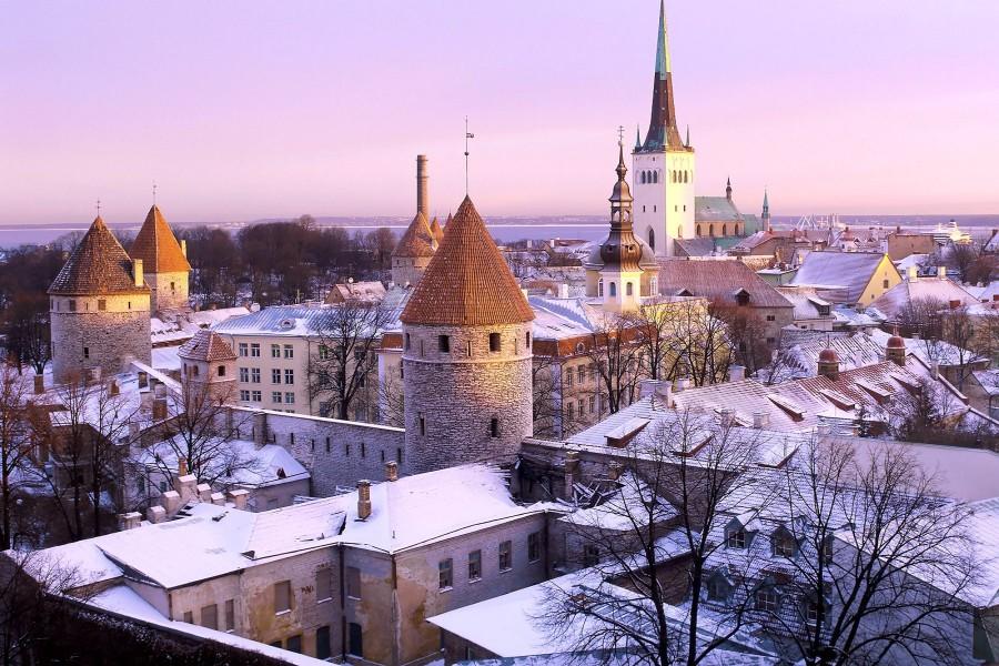 Nieve en Tallinn (Estonia)
