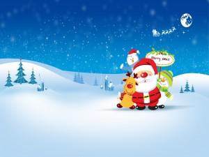 """Papá Noel y sus amigos te desean """"Feliz Navidad"""""""