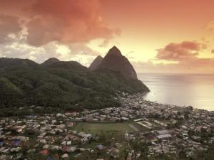 Vista de Santa Lucía (Comunidad del Caribe)