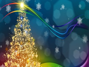 Resplandeciente árbol de Navidad