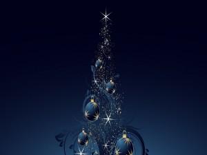 Vistoso árbol de Navidad