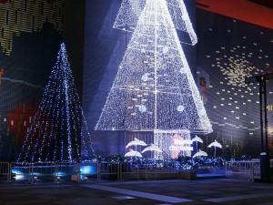 Árboles de Navidad luminosos en Japón