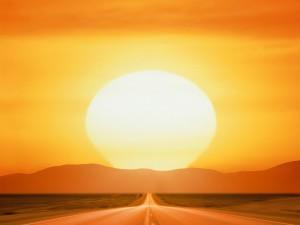 Gran sol visto desde la carretera