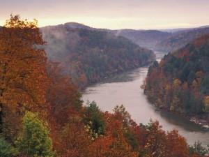 Otoño en el río Cumberland (Kentucky)