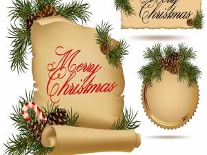 Carteles con mensajes de ¡Feliz Navidad!