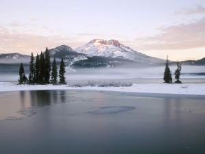 Invierno en el lago Sparks (Oregón)