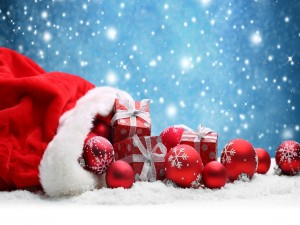 Bolsa de Papá Noel con regalos