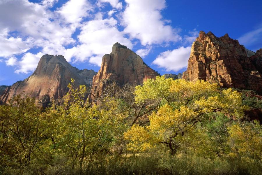 Los Tres Patriarcas (Parque Nacional Zion, Utah)