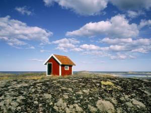 Cabaña junto al mar