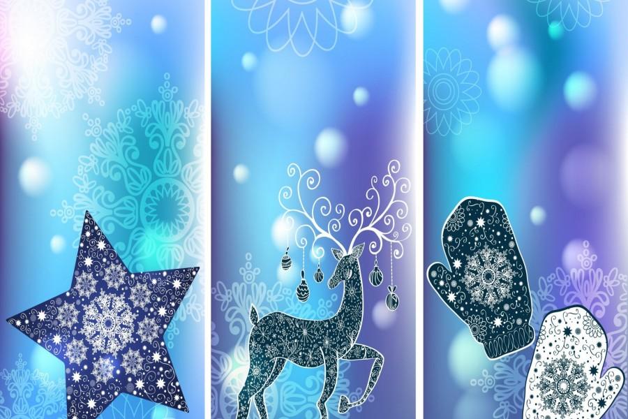 Dibujos abstractos de Navidad